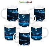 HomeSoGood Shadow Of The Moon Creamic Coffee Mugs (6 Mugs)