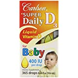 Carlson Labs Carlson Laboratories Super Daily D3 for Baby 400IU Supplement, 10.6 ml, 0.36 Fluid Ounce ~ Carlson Laboratories