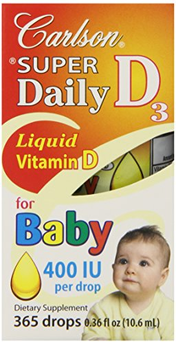 Carlson Labs Carlson Laboratories Super Daily D3 For Baby 400Iu Supplement, 10.6 Ml, 0.36 Fluid Ounce