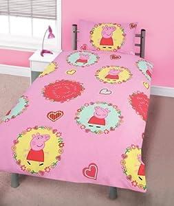 housse de couette parure peppa pig spiral lit 90 amazon. Black Bedroom Furniture Sets. Home Design Ideas