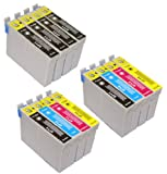T 715 X 2 MULTIPACK + T 711 X 4 - EPSON COMPATIBLE Ink Cartridges for Epson Stylus D120, D78, D92, DX400, DX4000, DX4050, DX4400, DX4450, DX5000, DX5050, DX6000, DX6050, DX7000, DX7400, DX7450, DX8400, DX8450, DX 9400F, S20, S21, SX100, SX105, SX110, SX1