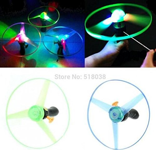F98 hot-selling newest Spin LED Light Frisbees Boomerangs Flying Saucer Helicopter UFO Outdoor Toy kukull Veprimi Figura heronj femije (1 piece) (Flying Meat compare prices)