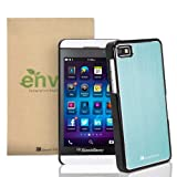GreatShield TERRA Series Brushed Metal + PC Cover Case Skin for RIM Blackberry Z10 (Light Blue / Black)