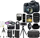 Canon EOS 70D 20.2MP Digital SLR Camera with Dual Pixel CMOS AF and EF-S 18-135mm F3.5-5.6 IS STM Lens Kit + Lexar 64 GB Card and Reader + Case + Tripod + Flash + Spare Battery + Digital Camera Accessories Bundle