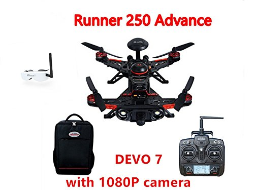 Walkera Runner 250 Advance GPS System RC Racer Quadcopter RTF with DEVO 7 Transmitter OSD 1080P Camera GPS Goggle 2