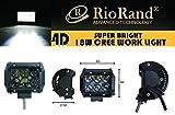 RioRand 4D爆光 4インチ 18W 作業灯 CREE製 LED ワークライト 自動車ライト スポットライト 狭角タイプ 12V~24V対応 防水 防震 防塵