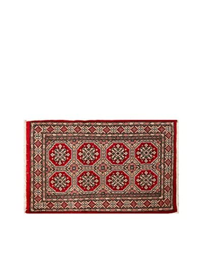 RugSense Alfombra Kashmir Rojo/Multicolor 126 x 81 cm