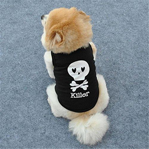 Camicia Piccolo Cane, Dog Shirt, Ouneed® Camicia Moda estate sveglia del cane di Animale Domestico della Maglia Cucciolo Cotone Stampato T XS / S / M / L (M)