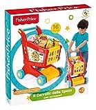 Grandi Giochi GG01806 Fisher-Price Carro de Supermercado de Juguete con Accesorios