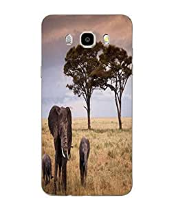 Snazzy Elephant Printed Multicolor Soft Back Cover For SAMSUNG Galaxy J5 - 6 (New 2016 Edition)