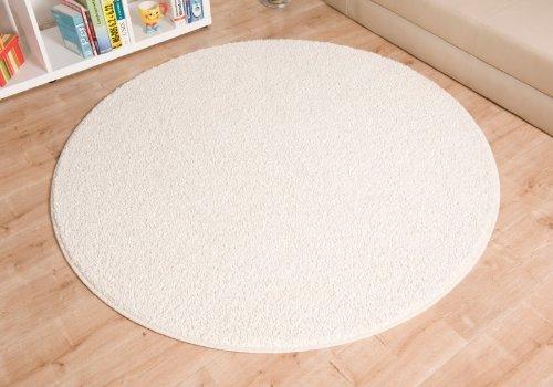 Shaggy Teppich Euphoria weiß rund, Größe Auswählen:180 cm rund