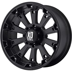 KMC Wheels XD Series  Misfit Wheel with Matte Black Finish (20×9″/6×5.5″)