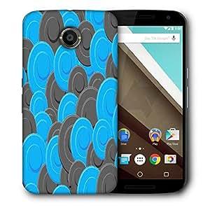 Snoogg Blue Grey Pattern Designer Protective Phone Back Case Cover For Motorola Nexus 6