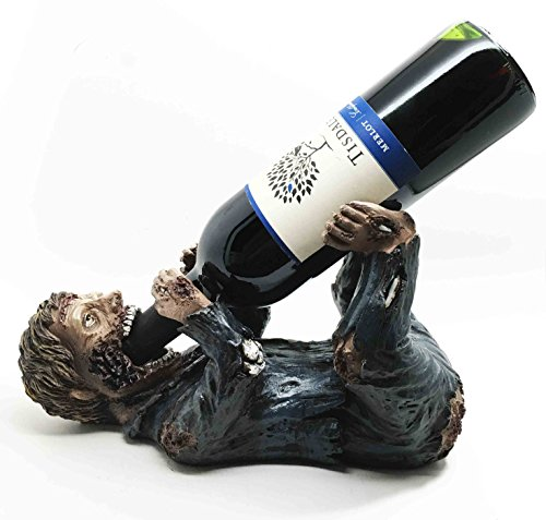 Zombie Walker Guzzling Blood Wine Bottle Holder