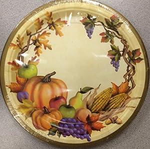 Thanksgiving decorations fall harvest dinner plates fall theme plates 10 - Thanksgiving decorations on sale ...