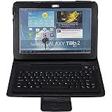 BATTOP Wireless Bluetooth Keyboard Case For Samsung Galaxy Tab 2 10.1 Inch P7510/ P5100 - Galaxy Tab 2 P7510 /7500 Case With Bluetooth Keyboard