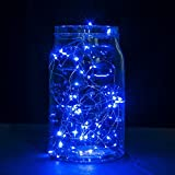 String Lights - Oak Leaf 2 Set of Micro 30 Leds Decorative Lights Copper Wire Fairy Starry String Lights for Home Bedroom Party Decoration Trees - Blue ¡­