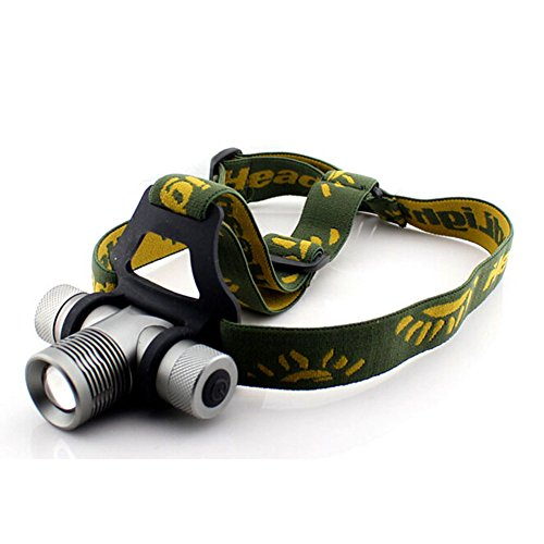 Baoshu1889 Led Headlamp 3 Color Red/Green/Blue- Brightest Flashlight Headlamp,Light Weight, 350 Lumens, Fully Adjustable Fits Comfortably, Waterproof, Impact Resistant!For Riding, Camping, Hiking, Hunting & Indoor Activities, Students;Families,Special Wor