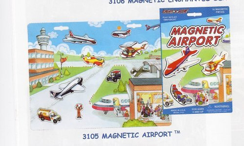 Create A Scene Magnetic Airport Play Set Toy by Smethport - 1