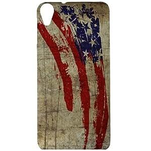 Casotec Vintage American Flag Design Hard Back Case Cover for HTC Desire 820