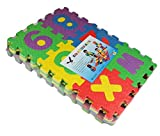 Edealing 36pcs Mini Puzzle ni�os juguetes educativos Interlockin letras del alfabeto numeral Espuma Mat