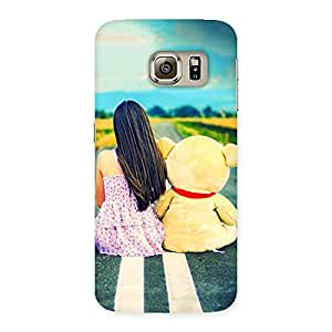 Enticing Teddy Girl Cute Multicolor Back Case Cover for Samsung Galaxy S6 Edge Plus