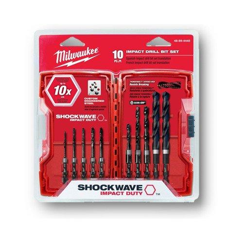 10-Piece Shockwave Hex Shank Drill Bit Set (Shockwave Drill Set compare prices)
