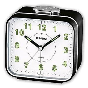 CASIO 10756 TQ-328-1D - Reloj Despertador analógico por CASIO
