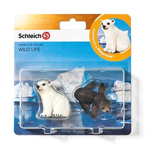 Schleich 21035 - Wild Life Babies, Wildtiere Spielset - Set 1