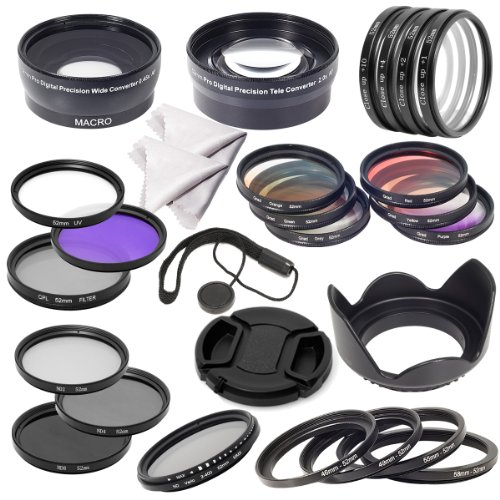 58mm Essential Lens Filter Set for Canon 70D