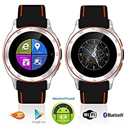 Indigi® Sport 3G SmartWatch CellPhone Waterproof Android 4.4 WiFi Unlocked AT&T T-mobile Smart Watches Unlocked Smartphone