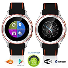 buy Indigi® Android 4.4 Waterproof Smart Watch (3G+Wifi) Google Play Unlocked At&T T-Mobile