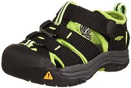 KEEN Newport H2 Sandal (Toddler/Little Kid/Big Kid),Black/Lime Green,5 M US Toddler