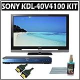 Sony Bravia V-Series KDL-40V4100 40-inch 1080P LCD HDTV and Sony Blu-Ray Player Accessory Kit