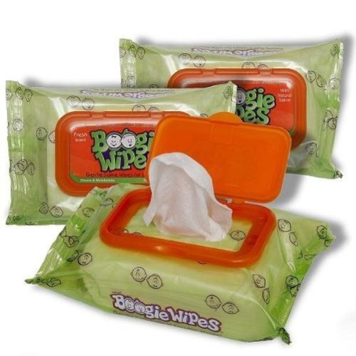 Boogie Wipes Gentle Saline Nose Wipes 4 Pack
