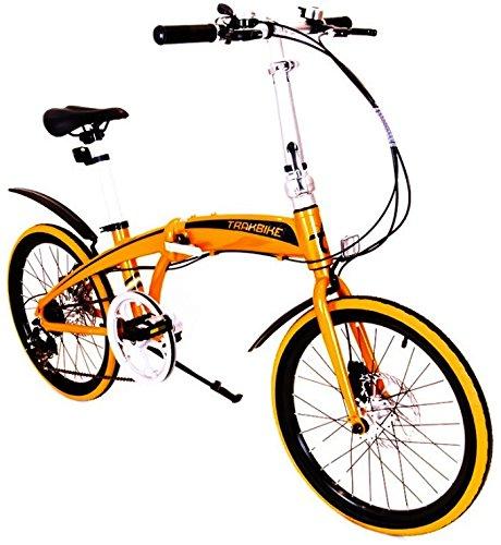 """ORANGE TRAKBIKE CITY - 20 """"in alluminio compatto pieghevole 7 VELOCITA 'SHIMANO della bicicletta"""