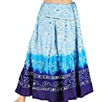 Ofo-Rajasthani Blue Bandhej Design Cotton Skirt -206
