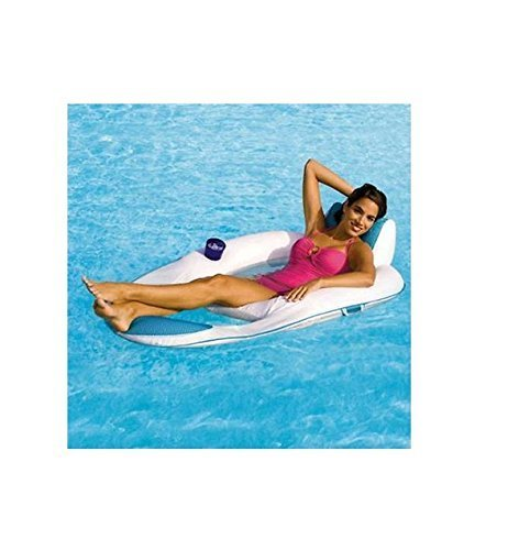 Swimways Spring Float Recliner for the Swimming Pool White Blue 13018 by Spring Float günstig