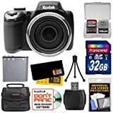 Kodak PixPro AZ525 Astro Zoom Wi-Fi Digital Camera with 32GB Card + Battery + Case + Accessory Kit
