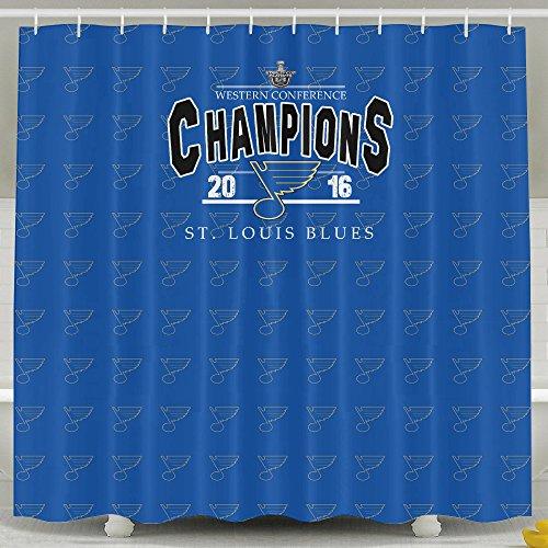 IWKULAD Hockey Champion St Louis Blues Customized Shower Curtains