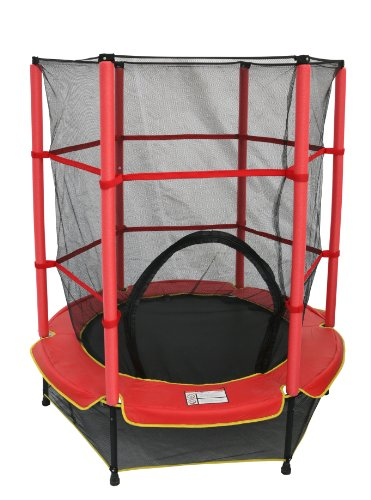 denmark ideale 68235 kindertrampolin mit netz rot. Black Bedroom Furniture Sets. Home Design Ideas