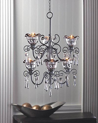 Home Locomotion Midnight Blooms Tiered Chandelier