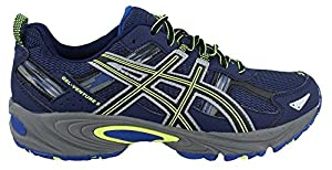 ASICS Men's GEL Venture 5 Running Shoe, Indigo Blue/Black/Flash Yellow, 7.5 M US