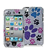 SODIAL(TM) Colorful Dog Paw Bling Rhinestone Diamond Snap On Hard Skin Case for Apple Ipod Touch iTouch 4th Generation Gen 4g 4 8gb 32gb 64gb