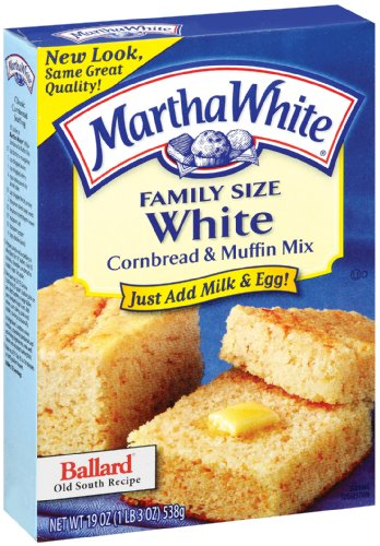 Martha White Family Size White Cornbread and Muffin Mix, 19-Ounce (Pack of 12)