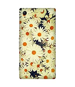 White Sunflower Sony Xperia Z1 Case
