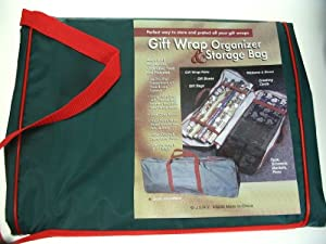 GIFT WRAP ORGANIZER AND STORAGE BAG - OVER 3 FEET LONG!