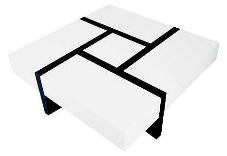 ACTUAL DIFFUSION 3BD-488BLN Table Basse Carrée Bois 100 x 100 x 35 cm