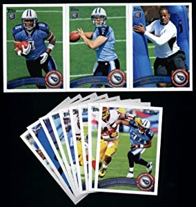 2011 Topps Tennessee Titans Complete Team Set (12 Cards)