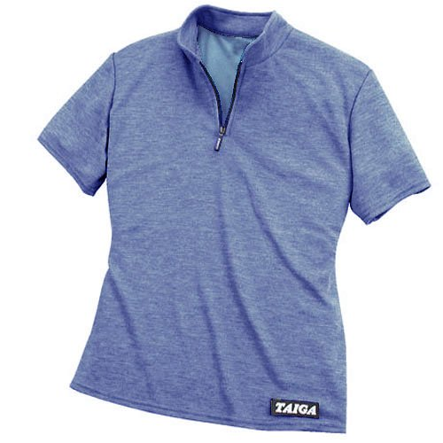 TAIGA Women's Polartec® PowerDry® Polo Zip-T - Quick Dry Polo T-Shirt, MADE IN CANADA